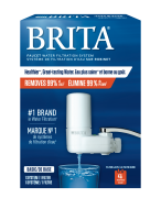 Brita® Faucet Mount Filtration Basic System – White